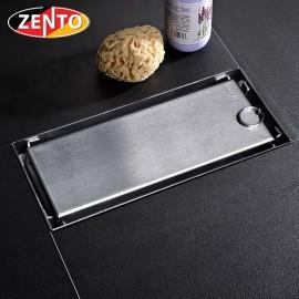 Thoát sàn chống mùi inox304 Zento ZT653-18 (80x180mm)